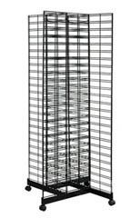 Black 4-Way Slat Grid Racks - 6.5""