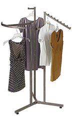 Boutique Raw Steel 3 Way Garment Racks