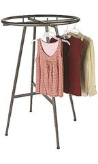 Boutique Raw Steel Round Garment Rack