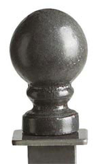 Boutique Square Raw Steel Ball Finials