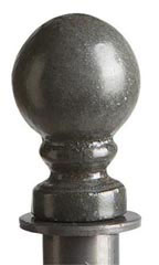 Boutique Round Raw Steel Ball Finial