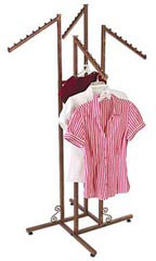 4-way Cobblestone Clothing Racks with Slant Arms