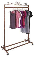 Boutique Cobblestone Single Rail Rolling Racks