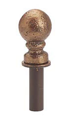Cobblestone Ball Shaped Merchandise Hook Finial