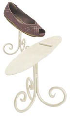 "6"" Ivory Shoe Display Stand"