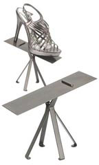 Raw Steel Shoe Display Stand
