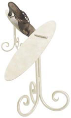 "8"" Ivory Shoe Diplay Stand"
