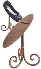 "8"" Cobblestone Shoe Display Stands"