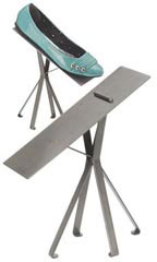 Raw Steel Shoe Display Stands