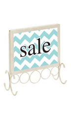 Countertop Boutique Sign Holder - Ivory