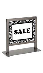 Countertop Boutique Sign Holder - Raw Steel