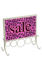 7 x 11 Ivory Countertop Sign Holder