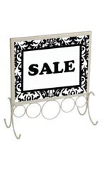 8½ x 11 Ivory Countertop Sign Holder