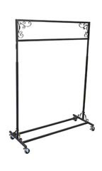 Boutique Vintage Salesman Rolling Rack - Single Rail