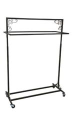 Boutique Vintage Double Salesman Rolling Rack