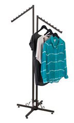 Vintage Boutique 2-Way Clothing Rack with Straight Arms