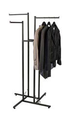 Vintage 4-way Boutique Clothing Rack - Straight Arms