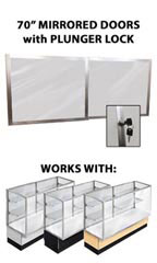"Mirror Doors & Plunger Lock Kit for 70"" Metal-framed Full Vision Showcase"