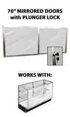 "Mirror Doors & Plunger Lock Kit for 70"" Metal-framed Extra Vision Showcase"