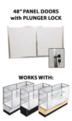 "Panel Doors & Plunger Lock Kit for 48"" Metal-framed Full Vision Showcase"