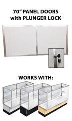 "Panel Doors & Plunger Lock Kit for 70"" Metal-framed Full Vision Showcase"