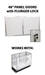 "Panel Doors & Plunger Lock Kit for 48"" Metal-framed Extra Vision Showcase"