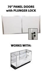 "Panel Doors & Plunger Lock Kit for 70"" Metal-framed Extra Vision Showcase"