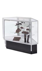 Mirrored Door Option for Extra Vision Rear Access Corner Display Case