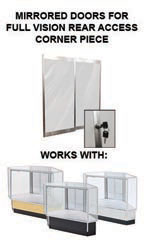 Mirror Doors & Plunger Lock Kit for Full Vision Rear Access Corner Display Cases