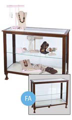 "Espresso 48"" Glass Display Case"