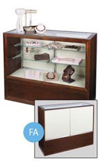 "Espresso 48"" Full Vision Display Case"