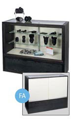 "Charcoal Black 48"" Full Vision Display Case"