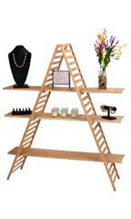 A-Frame Display Units with 3 Shelves
