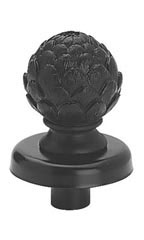 Black Artichoke Dress Form Finial