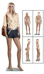 Full sized Plastic Mannequins with Wigs - Female