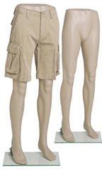 dress forms: Plastic Mannequin Male Leg Forms