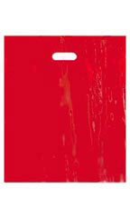 "Low-Density Red Plastic Merchandise Bags - 15"" x 18"" x 4"""
