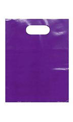 "Low-Density Purple Plastic Merchandise Bags - 9"" x 12"""