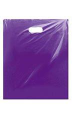 "Low-Density Purple Plastic Merchandise Bags - 15"" x 18"" x 4"""