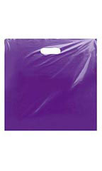 "Low-Density Purple Plastic Merchandise Bags - 20"" x 20"" x 5"""