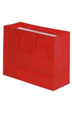 "Large Red High Gloss Tote Bags - 16"" x 6"" x 12"""