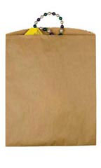 Large Natural Paper Merchandise Bags