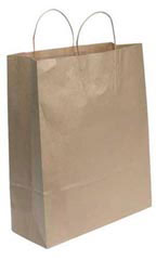 Jumbo Natural Kraft Paper Shopping Bag