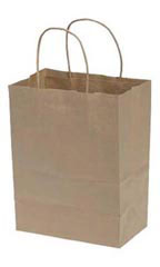 Kraft Paper Shopping Bags - Natural