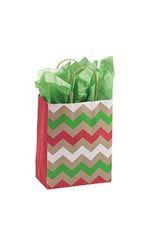Medium Christmas Chevron Paper Shopping Bags