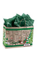 Large Street Scene Paper Shopping Bags
