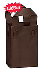 Small Chocolate Brown Frosted Plastic Shopping Bag