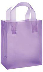 Medium Lavender Frosted Plastic Shopping Bag