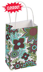 Wildflower Paper Shopping Bag