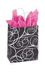 Elegant Swirl Paper Shopping Bag
